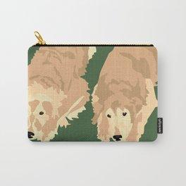2 Golden Retrievers Carry-All Pouch