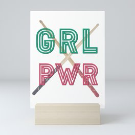(Girl Power) GRL PWR - Drumsticks Mini Art Print