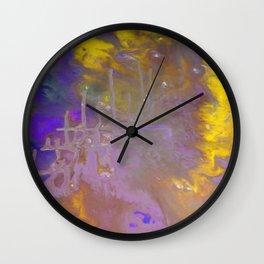 Blue & Yellow Wall Clock