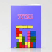 tetris Stationery Cards featuring Tetris by Dano77