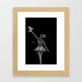 I am Titanium Framed Art Print
