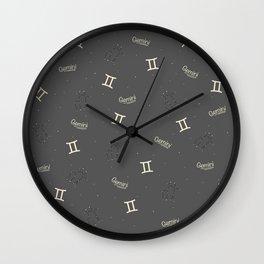 Gemini Pattern Wall Clock