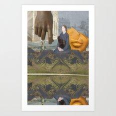 Black Cat (reflection) Art Print