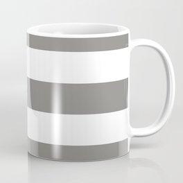 Titanium - solid color - white stripes pattern Coffee Mug