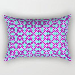 Pink Spurs Hot Pink on Turquoise Cowgirl Spurs Midwestern Ranch Decor Southwestern Design Pattern Rectangular Pillow