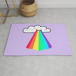 Rainbow Blast - Cute happy rainbow - smiling rainbow Rug