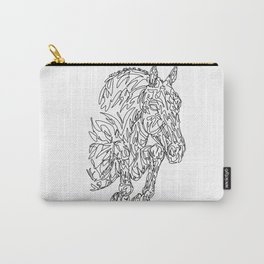 Doodle horse - showjumper Carry-All Pouch