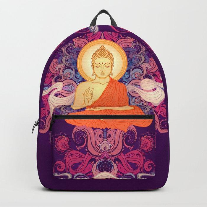 Purple Buddha Meditation Backpack