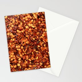 Crushed chilli peppers Stationery Cards