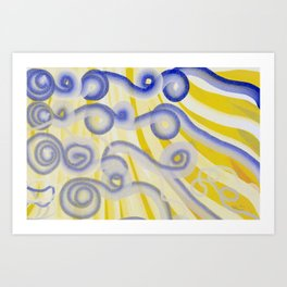 Happy to be Curly Art Print