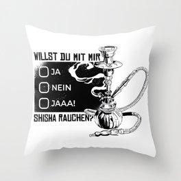 Shisha smoking Throw Pillow