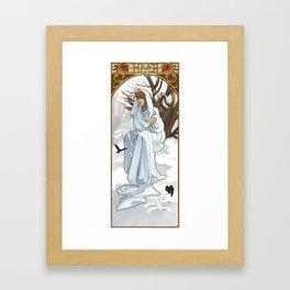 Hiver Framed Art Print