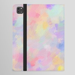 Secret Garden Colorful Abstract Impressionist Painting Pattern iPad Folio Case