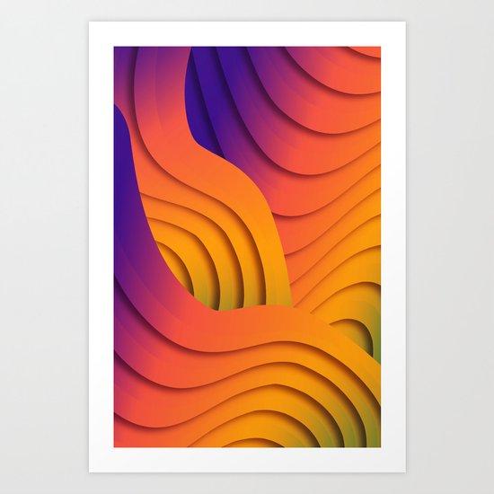 Bold Waves Art Print