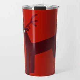 Reindeer-Red Travel Mug
