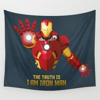 ironman Wall Tapestries featuring The Truth Is, I Am Iron Man   by DWatson