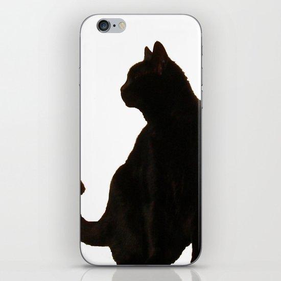 Halloween Black Cat Silhouette  iPhone Skin
