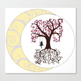 Swirls and a Swing Canvas Print