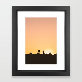 New York Water Towers Sunset Framed Art Print