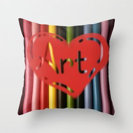 I love Art! Throw Pillow