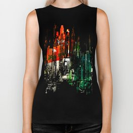 City Aflame and Drowning Biker Tank