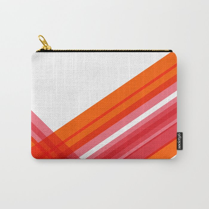 Tangerine Abstract Carry-All Pouch
