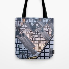 Historic half-timbered houses of Germany Tote Bag