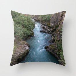 Alaska River Canyon - I Throw Pillow