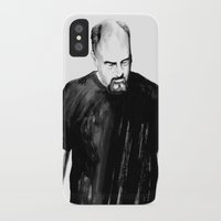 louis ck iPhone & iPod Cases featuring DARK COMEDIANS: Louis C.K. by Zombie Rust