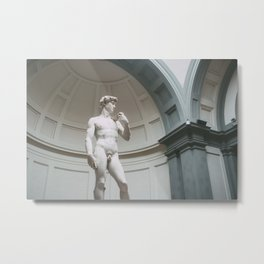 Florence, I Statue of David Metal Print