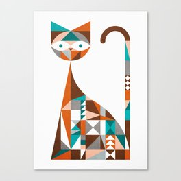 mid-century cat Canvas Print