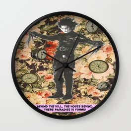 There, paradise is found! Wall Clock
