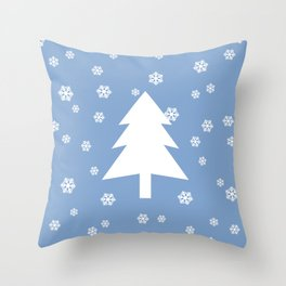 Snowy - light blue - more colors Throw Pillow