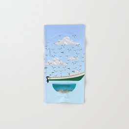 Boat and Birds Hand & Bath Towel