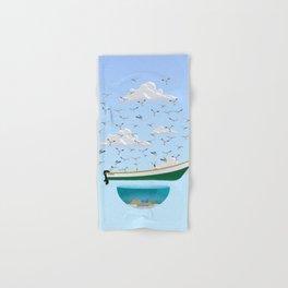Boat and Birds Hand & Bath Towel