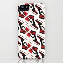 aj1 bred sketch iPhone Case