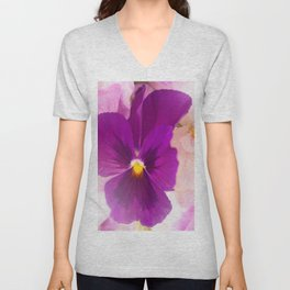 Flower Bouquet in Purple and Pink Colors  #decor #society6 #buyart Unisex V-Neck