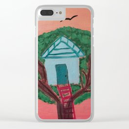 Treehouse in Paradise Clear iPhone Case