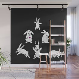 White rabbits Wall Mural