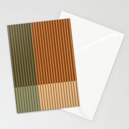 Color Block Line Abstract XIV Stationery Cards