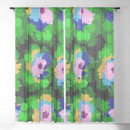 Flowers for Jackson Pollock, Matisse and Van Gogh. Sheer Curtain