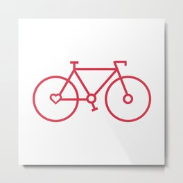 Fixed Gear Love Metal Print