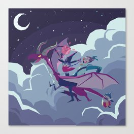 DRAGON RIDING Canvas Print