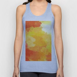 Colorful Abstract - red orange pattern Unisex Tank Top