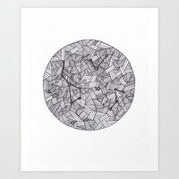 constellation Art Prints featuring Constellation by Inked in Red
