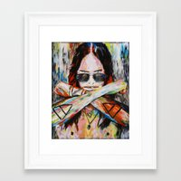 30 seconds to mars Framed Art Prints featuring Jared Leto 30 Seconds To Mars Original Acrylic Painting by RockChromatic