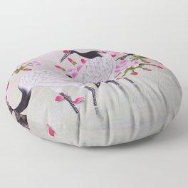 Chinese - Crane and Sakura Floor Pillow