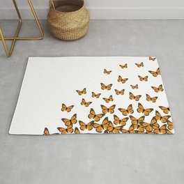 Imperial Butterfly Light Rug