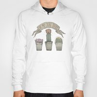 cacti Hoodies featuring Cacti by Cesca Summers