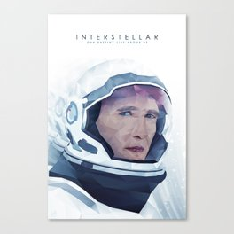 Interstellar Low Poly Poster Canvas Print